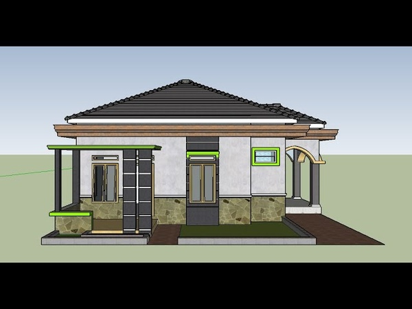 Contoh Perpaduan Model Desain Rumah Mewah Minimalis 8 x 10 Modern Sederhana Atap Limas