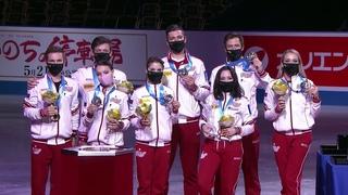 Сборная России впервые в истории выиграла командный Чемпионат мира по фигурному катанию.