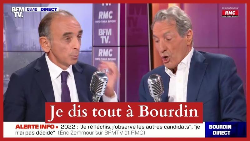 Eric Zemmour chez Jean Jacques Bourdin