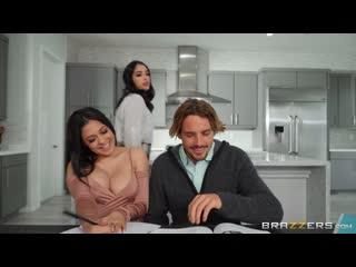 Serena Santos, Vanessa Sky (The Threesome Tutorial) [2020, Athletic, Big Tits, Latina, Natural Tits, Stepsister, HD 1080p]