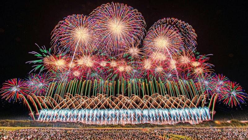 [4K] 感動日本一 ! 第29回 赤川花火大会 2019「百華繚乱」~夜空に重なる一人一2