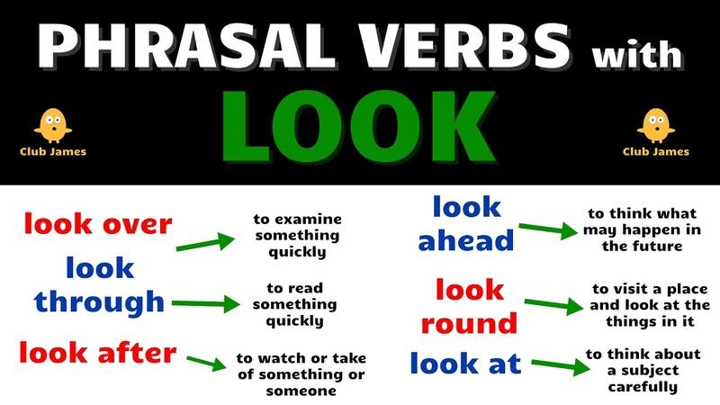 English Phrasal Verbs using the word LOOK
