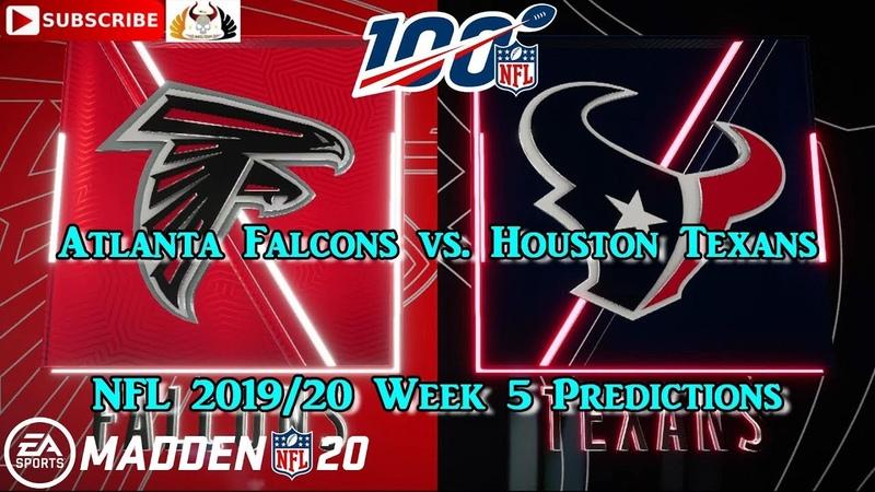 Atlanta Falcons vs. Houston Texans   NFL 2019-20 Week 5   Predictions Madden NFL 20