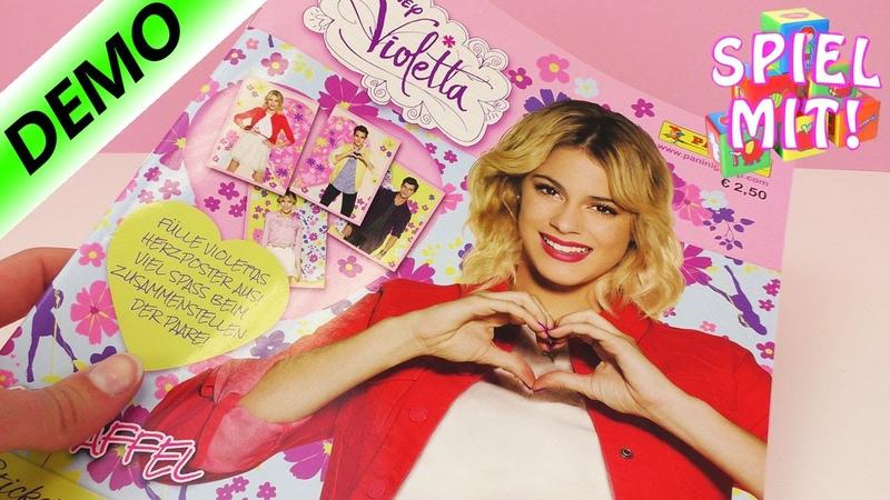 Violetta Sticker Album Staffel 3 Panini Sammelalbum Mit riesigem Wandposter Demo