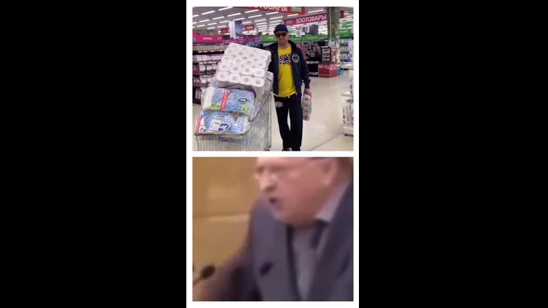 Реакция Жириновского на массовую истерию из-за коронавируса 🧻😂 (дефицит туалетной бумаги)