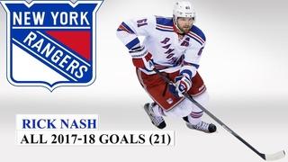 Rick Nash (#61) All 21 Goals of the 2017-18 NHL Season