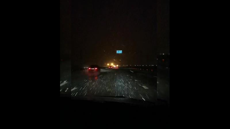 Первый снегопад М8 Архангельск 24 октября 2020