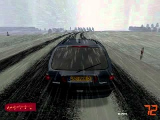 Racer free car simulation - Renault espace III 2.2 dT snow drive (polish roads)