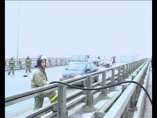 Более 20 авто столкнулись в Ростове-на-Дону на мосту