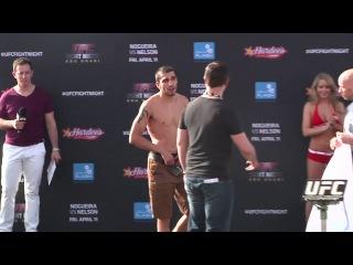 UFC Fight Night 39 - официальная процедура взвешивания