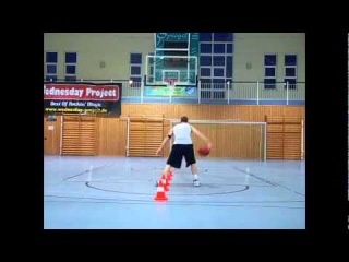 Tight Spaces Cone Drill w/Hoop Honor (Ball Handling and Low Dribble Workout)- Deron Williams