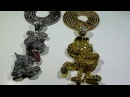 (SOLD)COMBO! Odie and Garfield pendants w/Franco chains- Lab Made Diamond Jewelry TYGA GUCCI MANE