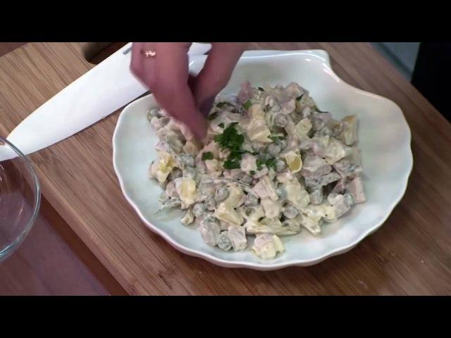 Салат из кальмаров. Вкусно, сытно, диетично!