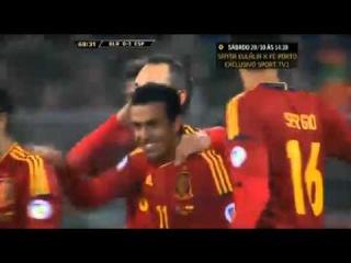 Segundo gol de Pedro (0-3) Espaa