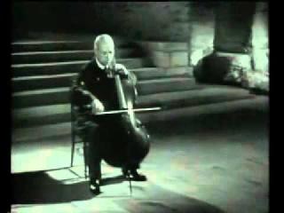 Играет Пабло Казальс И.С.Бах Сюита для виолончели соло №1 BWV 1007