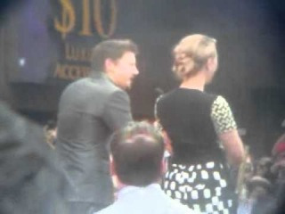 5/2/12 HOLLYWOOD STARS: JEREMY RENNER SAYS A FEW WORDS ON BEHALF OF SCARLET JOHANSSON