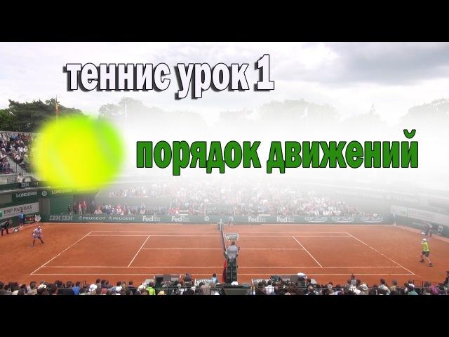 Теннис. Урок 1. Порядок движений.