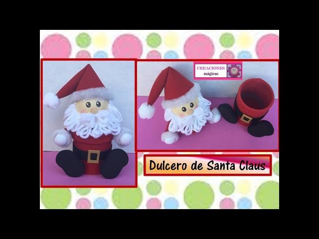 ♥♥tutorial navideño No 4♥Dulcero de santa Claus♥Creaciones mágicas♥♥