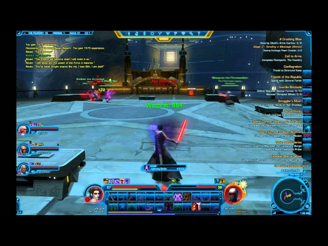 Star Wars The Old Republic Revan Fight in The Foundry Sith Sorcerer PoV
