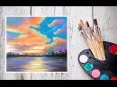 Видео урок Как нарисовать закат пастелью! Картина за 10 минут! Dari_Art