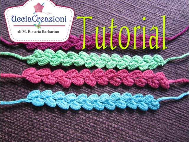 Tutorial 9 * Bracciali Zig Zag * Simil Cruciani How to Crochet Bracelets