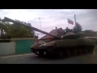 В Енакиево вошла колонна российской бронетехники