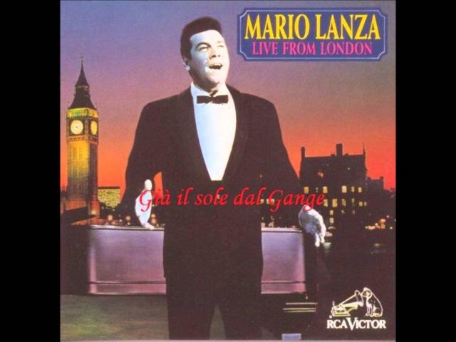 Mario Lanza Gia il sole dal Gange Live in London