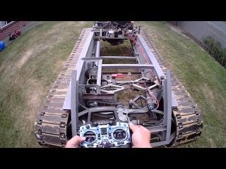 Half Scale Drivable RC Tank And Remote Movements