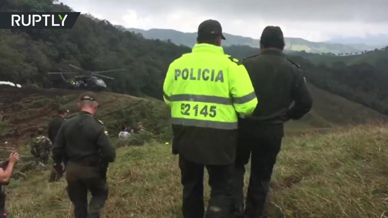 Авиакатастрофа в Колумбии видео с места трагедии