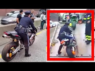 Lady Police Officer, Impounded a bike and AWESOME FAIL!