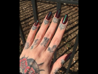 """Megan Massacre on Instagram: """"In love with my new manicure by @paintboxnails 💅🏻💕✨ #paintboxmani"""""""
