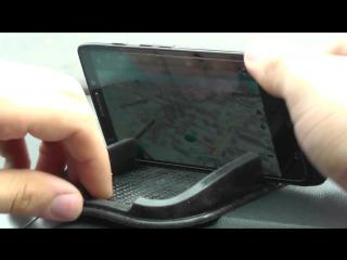 ОБЗОР_ Силиконовый коврик-липучка Choyo для телефонов на торпеду автомобиля