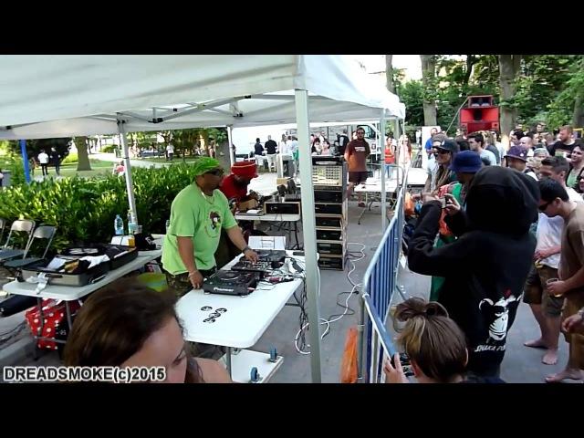 IRATION STEPPAS ft danman uk 3000 style Linval Thompson soundboy pt1 @ GARDEN PARTY 10 04 07 15