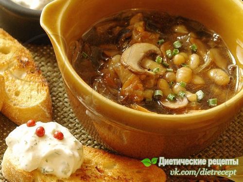Суп с фасолью и грибами ???? на 100грамм -...