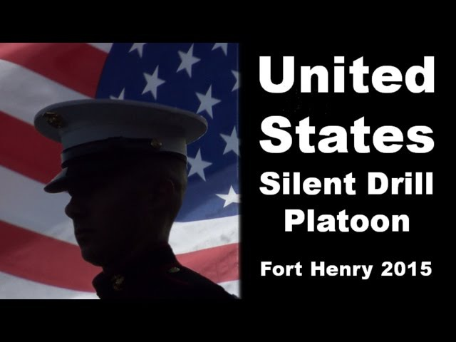 US Marine Silent Drill Platoon at Fort Henry 2015 No Oops Here Just SHOW AWE