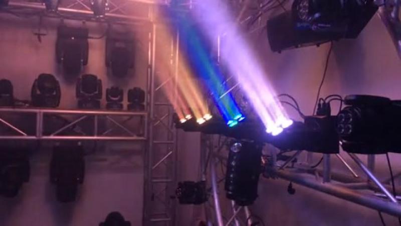 4PCS 15W RGBW 4IN1 LED MINI BEAM MOVING HEAD WASH LIGHT