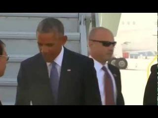 Obama arrives in China for G20 summit  Обама прилетел в Китай на саммит G20 видео