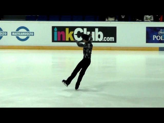 Finlandia trophy 2012 Yuzuru HANYU SP kiss cry
