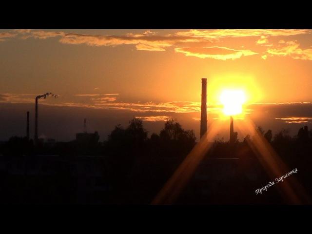 Волшебный Закат над городом с Музыкой Для Души и Релаксации ~ Солнце Садится