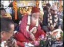 H. H. Chatral Sangye Dorjee Rinpoche releasing fishes.