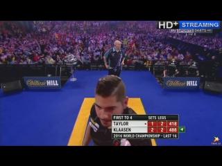 Phil Taylor vs Jelle Klaasen (PDC World Darts Championship 2016 / Round 3)