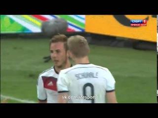 Германия- Аргентина 1-0 Гол Гетце, пас Шюррле ЧМ 2014 ФИНАЛ