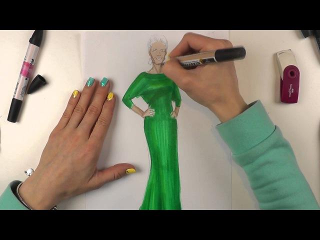 Fashion скетчинг fashion скетч по фактуре - изображаем атлас.