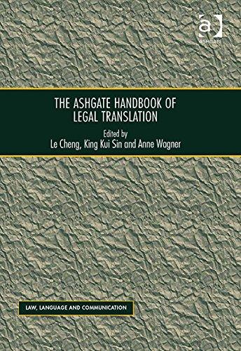 The Ashgate Handbook of Legal Translation-Ashgate Pub Co