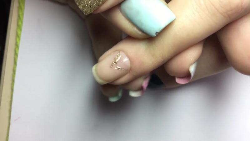 Реометрический дизайн ногтей 2 Покрытие геРь Рак Маникюр 1