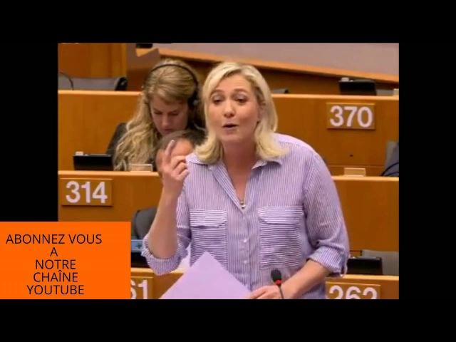 Marine Le Pen L'union bancaire c'est vider les comptes des clients pour sauver les banques