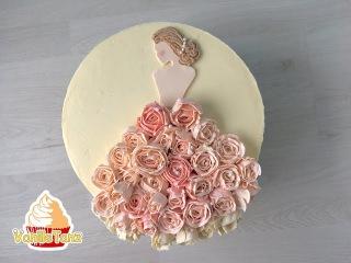 () Торт на девичник / Свадебный торт / Свадебное платье