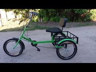 Трехколесный грузовой велосипед для взрослых, инвалидов и подростков