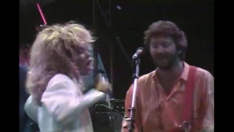 Eric Clapton Tina Turner Phil Collins Dire Straits Tearing Us Apart 1985