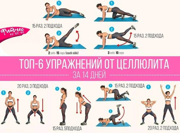 Похудеть в попе и бедрах упражнения